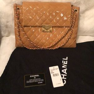 Chanel beige large handbag